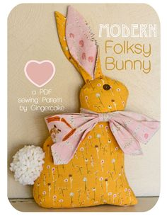 Image of Modern Folksy Bunny PDF Sewing Pattern
