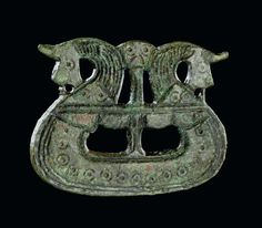 Brooch shaped like a ship, 800-1050. Tjornehoj II, Fyn, Denmark.  Copper alloy. Copyright of The National Museum of Denmark.  LOVE this design...