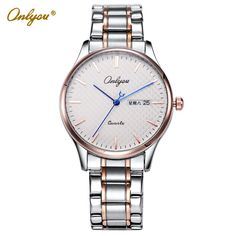Cheap watch for, Buy Quality watch for women directly from China watches for women brand Suppliers: Ladies Dress Watch Onlyou Brand Wrist Watches For Women Stainless Steel Strap Quartz Watch Waterproof Relogio Feminino 81119 Cheap Watches, Casual Watches, Watches For Men, Ladies Dress Watches, Women Brands, Quartz Watch, Fashion Watches, Wrist Watches, Children's Watches