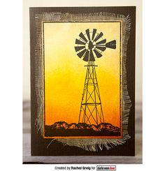 Card by Rachel Greig using Darkroom Door Photo Stamp - Country Windmill 18th Birthday Cards, Masculine Birthday Cards, Birthday Cards For Men, Handmade Birthday Cards, Masculine Cards, Greeting Cards Handmade, Male Birthday, Windmill Art, Windmill Tattoo