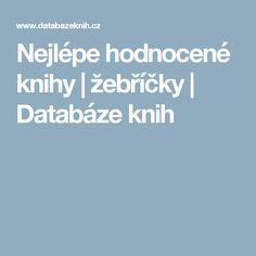 Nejlépe hodnocené knihy   žebříčky   Databáze knih
