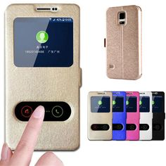 For Samsung Galaxy S5 Case Silk View Window Flip Leather Cover Coque Stand Funda Phone Cases for Samsung Galaxy S5 Neo Case Capa