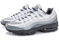size 40 0d53b 78398 Chaussures Nike Air Max 95 Ultra Essential blanche et grise vue extérieure  Adidas Shoes Nmd,
