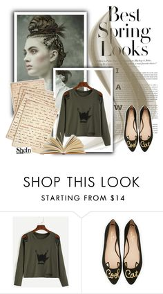 """shein"" by mikica-kiki ❤ liked on Polyvore featuring H&M, Kate Spade and Cultura"
