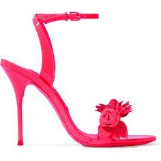67e39c69a37e4d Sophia Webster Lilico appliquéd patent-leather sandals (795 AUD) ❤ liked on  Polyvore