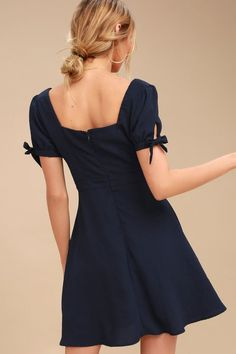 bcda6e110e0 Chances Are Navy Blue Skater Dress 3 Skater Dress For Teens