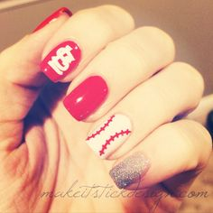 Baseball Laces Vinyl Nail Decals / Stickers by MakeitStickDesigns, $5.00