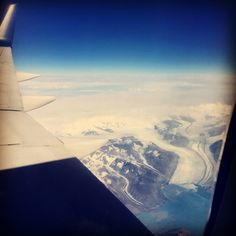 Flying in to Anchorage, the #glacier views over Valdez are amazing! #travel #Alaska #adventure #atws16