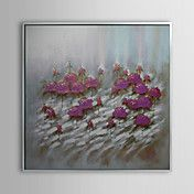 Floral Flowers in Purple Framed Oil Painting – AUD $ 106.24