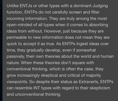 ENTP Open-mindedness and Ti introspection
