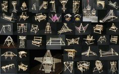 pic of many scale pioneering projects. May 2014 Cengiz YIILMAZ (https://www.facebook.com/aacyilmaz) says he made these. Check out his facebook pics for scouting in Turkey. Quite talented with knots and decorative rope work.