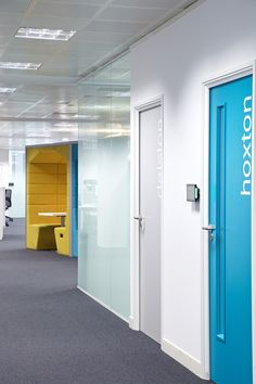 Phone booths at Sage Publishing office in Shoreditch, London