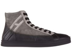 HOGAN REBEL MEN'S SHOES HIGH TOP SUEDE TRAINERS SNEAKERS R141 POLACCO. #hoganrebel #shoes #