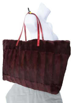 FENDI-Mink-Handbag-Large-free-Same-Day-Ship-Burgundy-And-RED-Tote-Bag (1)