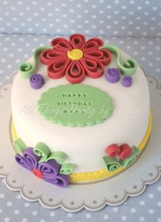 Awesome - a quilled cake!  :)