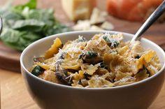 One-Pot Creamy Mushroom And vegetarian Chicken Pasta