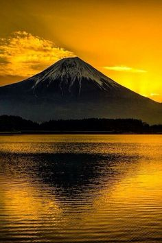 Mount Fuji, Japan is located on Honshu Island, is the highest mountain in Japan at m. An active stratovolcano that last erupted in Mount Fuji lies about 100 kilometres south-west of Tokyo, and can be seen from there on a clear day. Beautiful Sunset, Beautiful World, Beautiful Places, Beautiful Scenery, Beautiful Pictures, Monte Fuji, Belle Photo, Amazing Nature, Beautiful Landscapes