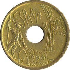 Una vieja #Moneda de 25 #Pesetas