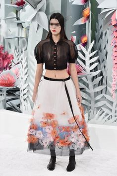 From reality TV starlet to high fashion model, there's no stopping Kendall Jenner! The blossoming model took center stage on the Chanel catwalk at Paris Haute Couture Fashion Week on Jan. 26, 2015. Rocking a midriff-baring sheer top, Kendall looked every bit the supermodel as she strutted her stuff up and down the runway.