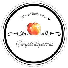 Etiquettes pour compote de pommes maison par Lily Ciboulette www.lilyciboulette.com