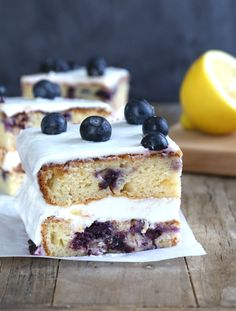Gluten Free Lemon Blueberry Cake - Gluten Free on a Shoestring