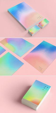 iridescent-design-trend-italianbark- Design Blog, Graphic Design Inspiration, Design Trends, Design Design, Stationary Branding, Stationary Design, Corporate Branding, Logo Branding, Holographic Print