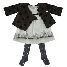 EPONIME - French Baby Clothes - Grey Dress Rabbit