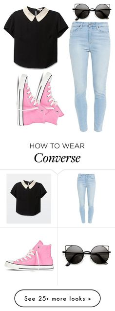 Untitled #908 by stylejuliet26 on Polyvore featuring Converse and Paige Denim