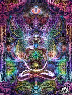 Visionary Artist Dima Astronaut Celestial Aura Tapestry by Third Eye Tapestries Chakra Art, Sacral Chakra, Chakra Healing, Psychadelic Art, Psy Art, Mystique, Visionary Art, Third Eye, Fractal Art