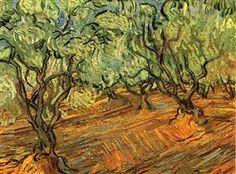 Olive Grove - Bright Blue Sky - Vincent van Gogh