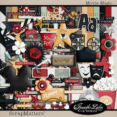 Movie Birthday Party Scrapbook Materials | Movie Magic by Jennifer Labre Designs