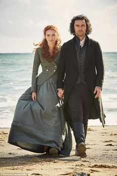 Gorgeous views of Cornwall, Aidan Turner as the swoon-worthy leading man and Eleanor Tomlinson as the sweet and spirited leading lady. I can't get enough of Ross and Demelza. Definitely one to watch. Poldark Series 3, Bbc Poldark, Poldark 2015, Demelza Poldark, Ross Poldark, Aidan Turner Girlfriend, Aiden Turner, Poldark Season 3, Acteurs Poldark
