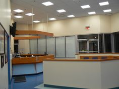 Reception Area Reception Areas, Kitchen Cabinets, Table, Furniture, Home Decor, Interior Design, Home Interior Design, Desk, Tabletop
