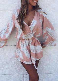 pink & white romper