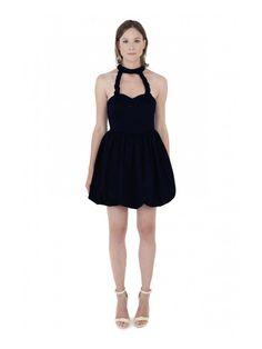 d2870c79a406f3 LIZA VETA COTTON BUBBLE DRESS BLACK - PR-A-PO Dress Black