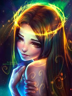 """Character sketches 148337381456724669 - awesomedigitalart: """" My colorful sadness by AyyaSap Source by Fantasy Girl, Fantasy Anime, Art Anime Fille, Anime Art Girl, Cartoon Kunst, Cartoon Art, Art Mignon, Digital Art Girl, Cute Drawings"""