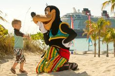 "There are opportunities to meet Disney characters on Castaway Cay, just like on the ship. Consult your ""Personal Navigator"" or the Disney Cruise Line Navigator app to find out where to find your favorite characters on Castaway Cay. 
