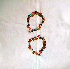 Multicolor Thread Anklet with Brass Medallions