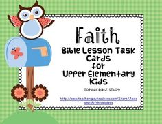 These task cards will get the kids exploring the Bible for answers. If you have never used task cards before, you are in for a treat. I use them as an occasional alternative to worksheets. Even though I'm covering the same material, the kids don't seem to realize that. I have 5th graders, but they can also be used for 4th through 6th grades.