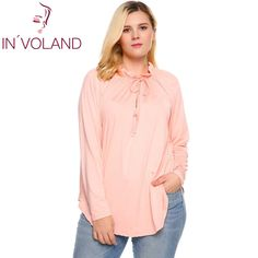 b4a5146dc4e IN VOLAND Women T-Shirt Big Size Casual O-Neck Lace-up Long Sleeve  Irregular Pleated Solid Brand Feminino T-Shirt Tops Oversize