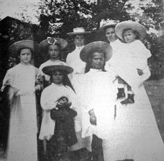"""The Grand Duchesses with their brother and their nurses. """"AL"""""""