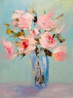Картина маслом - картина маслом,картина в подарок,картина с цветами,картина в гостиную