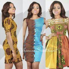 Wax-print party dresses #Flirty