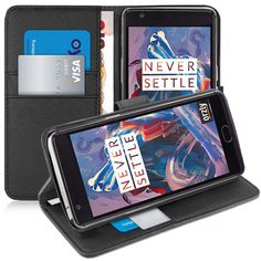 From Oneplus / Oneplus 3 Case - Orzly Multi-function Wallet Case For Oneplus 3 (original 2016 Model & Version) - Black Wallet Case Style Phone Cover With Card Pockets & Integrated Display Stand Leather Case, Leather Wallet, Oneplus 5, Best Wallet, Android, Black Wallet, Mobile Accessories, Mobile Cases, Samsung Galaxy S5