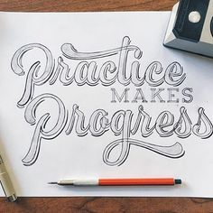 Practice makes progress by @asupplyco #Designspiration #lettering #creative