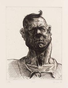 Artwork page for 'Ned', Peter Howson, 1987 Peter Howson, Advanced Higher Art, Pencil Drawings Of Love, Travel Sketchbook, Cross Hatching, Process Art, Art Images, Art Sketches, Vintage Art