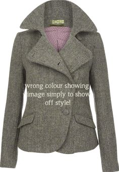 Abigail Harris Tweed mid ladies' jacket by The Rose Online- really rather British with an unusual attention to detail