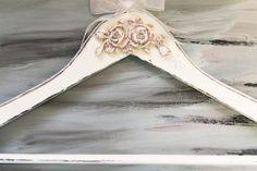 Exquisite Antique Wedding Hanger, Wedding Gown Hanger, Wedding gift, Bridesmaid gift, Personalized Hanger, OOAK, Shabby Chic Bridal hanger