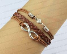 Infinity and heart charm bracelet best gift of by lovelybracelet, $3.59