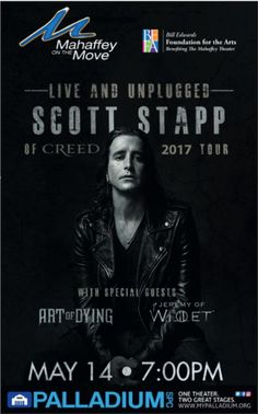 Scott Stapp of Creed at the Palladium on May 14th!
